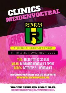 Clinics Meidenvoetbal bij Rijnmond Hoogvliet Sport