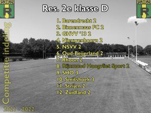 Competitie-indeling 2e elftal bekend
