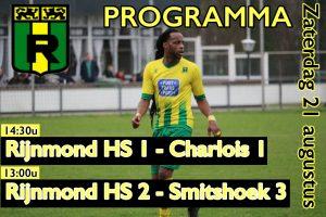 Wedstrijden Rijnmond Hoogvliet Sport 1 en 2